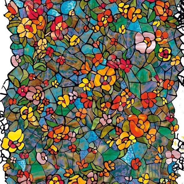 Modish Okleina witrażowa 200-3006 kwiaty witraż 45cm | Tapeciarz.pl QE31